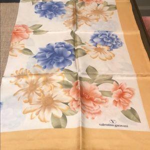 Vintage Valentino Garavani 100% silk scarf